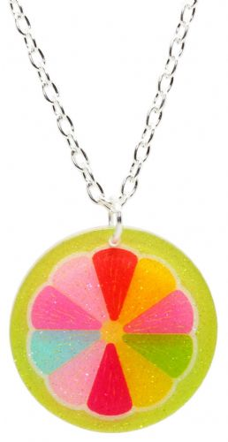 Bluebubble FEELIN FRUITY Glitter Fruit Slice Necklace With FREE Gift Box